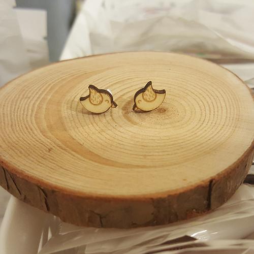 小鳥木耳環